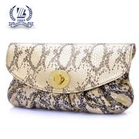 fake snake leather clutches and purses wholesale/ladies clutch purse