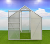 VERTAK Garden tomato polycarbonate greenhouse with aluminum frame,sliding door & windows opener