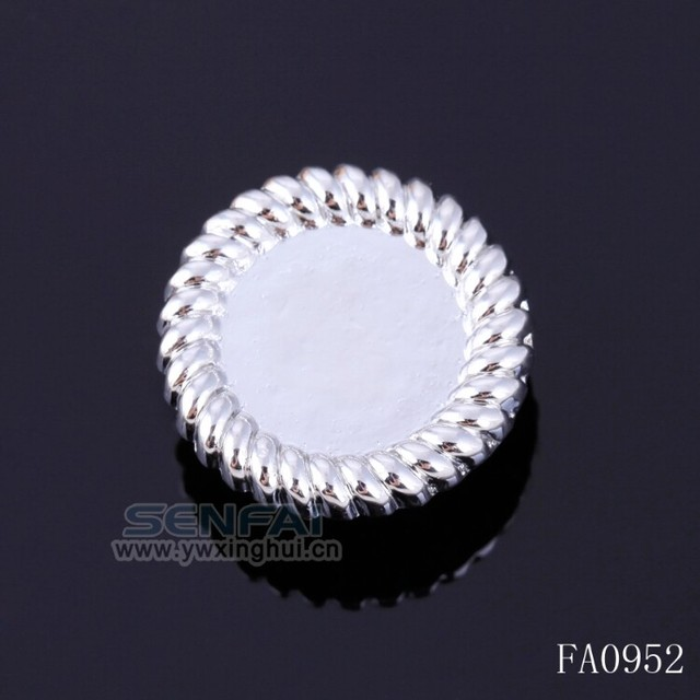 NEW DIY Charm Snap Button Fit For Bracelet Gold Plated Button craft diy button