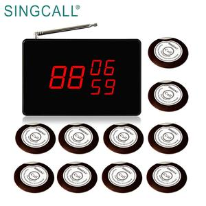 SINGCALL Wireless Beep Button Restaurant Waiter Pager System