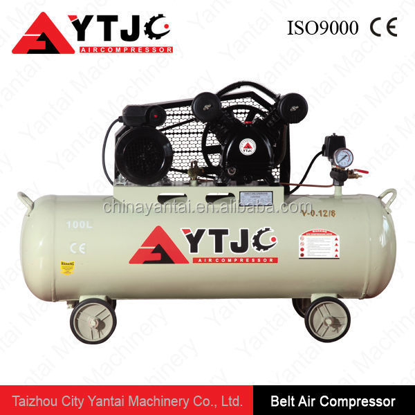 3HP 100L 4cylinder high pressure belt drive best air compressor with low price