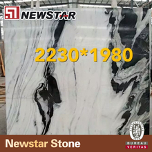 Chinese marble big slab floor tiles white panda marble price