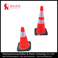 PVC Reflective Tape Traffic Cone With Rubber Base