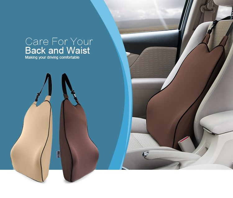 BYC Car Seat Back Support Cushion Low-temperature Resistance Memory Foam Lumbar Support Cushion
