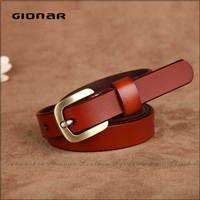 China Cheap Fashion Trend Genuine Leather Small Lady Genuine Leather Strip for Belt