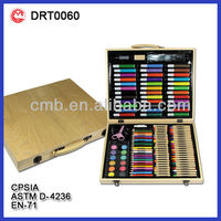 130PC VALUABLE ART SET IN WOODEN CASE