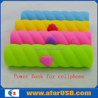 Brightly-coloured small capacity mini size power bank with LED lighting