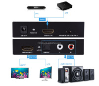 hdmi audio converter digital to analog HDMI to RCA converter box with HDMI SPDIF R/L output