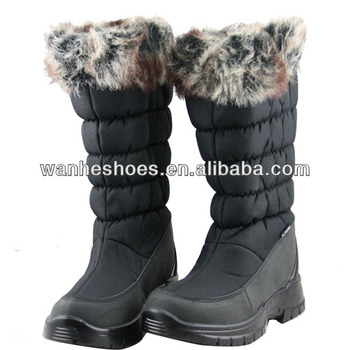hi-cut fashion snow fur boots