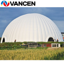factory customized outdoor rental business digital printing logo 20m diamter 200 people inflatable big winter tent dome shape