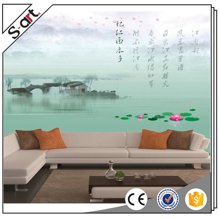 Processing customized fashion reflective 3d wall murals wallpaper