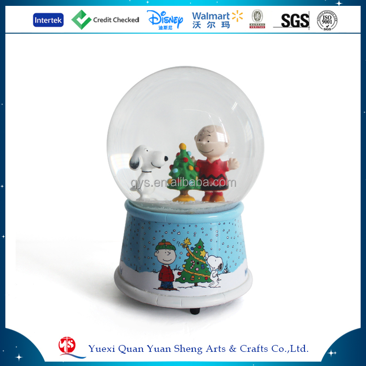 Musical snowglobe promotional electric christmas snow globe