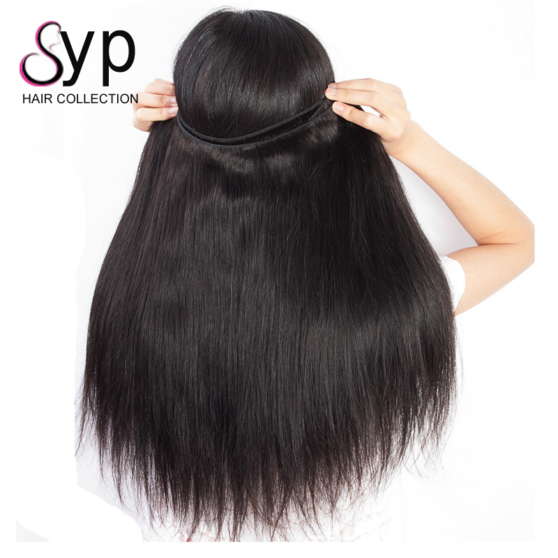 Natural Straight Indonesian Hair Bundles Three Head Hair Weft Machine