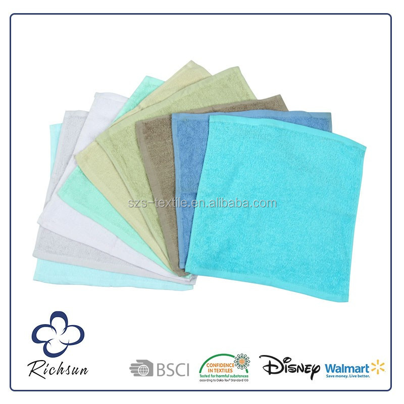 manufacturers 100% cotton hotel face towel