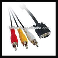 High Quality VGA RCA Cable with 3RCA