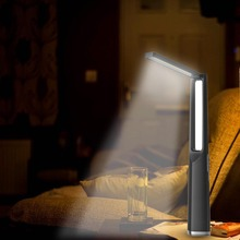 IP64 2W LED Desk Lamp Rechargeable Built-in Lithium Battery Multifunctional Emergency Light with Powerbank and Flashlight