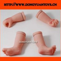 China Supplier Custom Vinyl Doll Arms Legs Accessory Parts Baby Doll