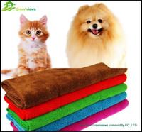 Best sell best price coral velvet pet cleaning towels,pet dog using coral fleece towel GV7822
