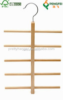 wooden hanger with nails for ties
