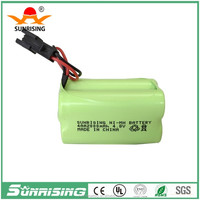 Hot Sales! 4.8V 600mah ni-mh aaa battery pack for Sunrising