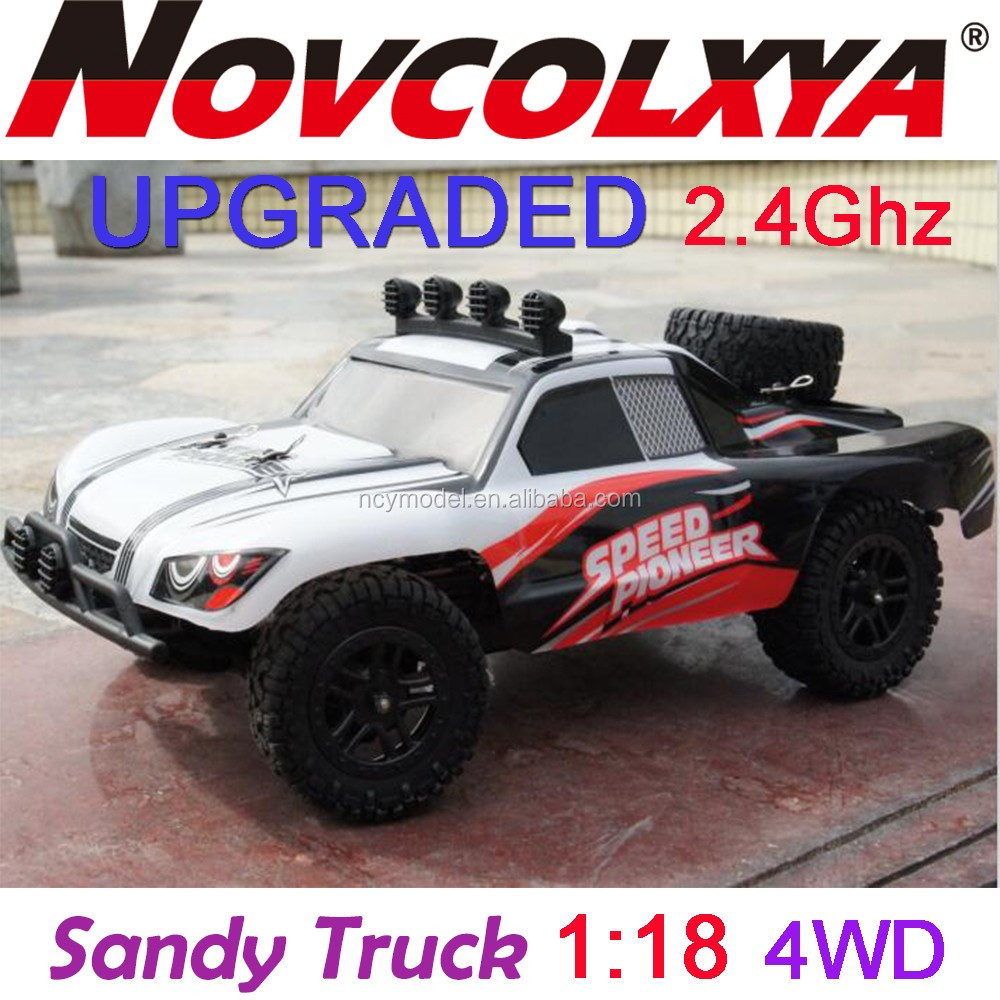 RC Car 1/18 2.4G 4wd Sandy rc monster truck Truck With light Remote Control Car