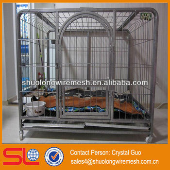 Direct Manufacture galvanized steel dog cage,large steel dog cage,strong stainless steel dog cage
