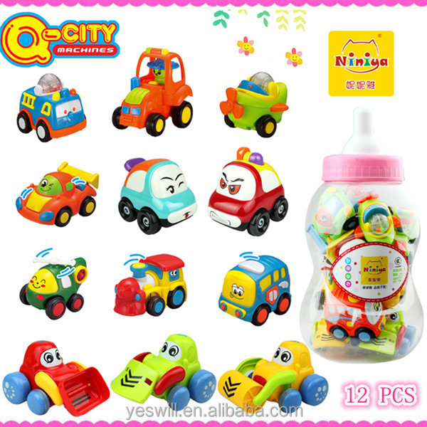 Q-CITY plastic friction car and animal for kids