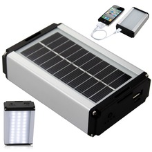 Solar Power Bank Emergency Lamp Outdoor Camping Lights Tent Camp Lighting Charging Treasure Functional Mobile Power Lighting