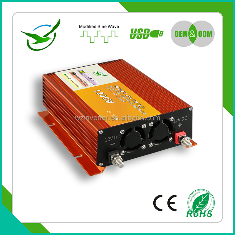 Dc to AC 1200w car soalr system dc dc converter 120v 12v micro-switches