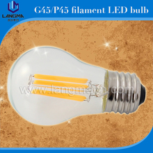 China Suppier G45 P45 2W LED Light CE UL RoHS Approved Filament Bulb