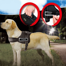 2018 Black strong adjustable outdoor for large dogs pets no pull padded vest dog harness