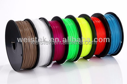 2016 Weistek /Acccreate 3d printer filament and plastic rods 1.75mm PLA ABS 3d printing filament