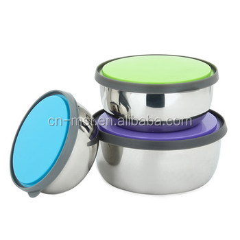 Factory stainless steel lunch box food container with pp lid