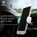 Baseus Stable Series 360 Degree Rotation Car Holder For iPhone Car Air Vent Mount Clamp Silicone Phone Car Mount Stand Universal