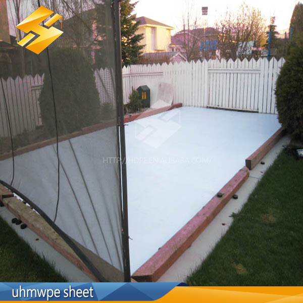 colored plastic sheet/Excellent_abrasion_resistant_uhmw_pe_synthetic_ice_skating_rink_produce