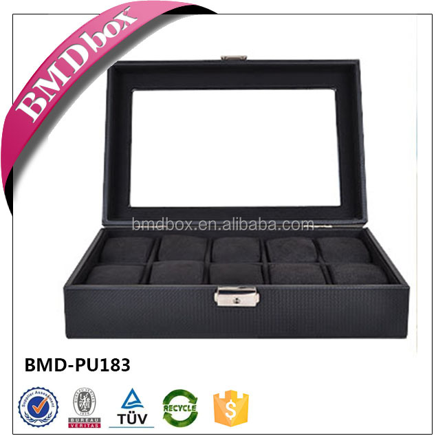 10 slot Leather Watches Display Box for Wedding Return Gift