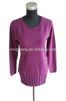 Women's Round Neck Long Pullover Cashmere Dress