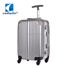 Cathylin famous brand abs printed hard shell pc trolley luggage