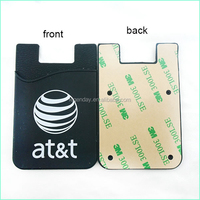 Cheap Promotional Silicone Cell Phone Credit Card Holder With 3M Sticker Smart Wallet