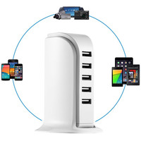 5ports mobile phone charger usb wall charger