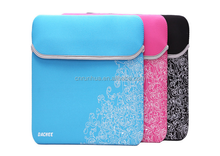 11.6 ,12,13,14,15,15.8inch Custom Waterproof neoprene laptop zipper sleeve
