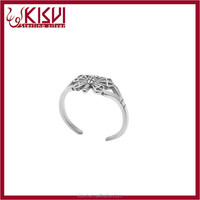 panyu jewelry factory lucky stone finger ring rodium with high quality