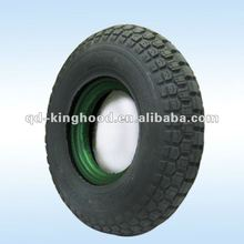 "16""X4.00-8 flat free tyre Pu foam filled wheels"