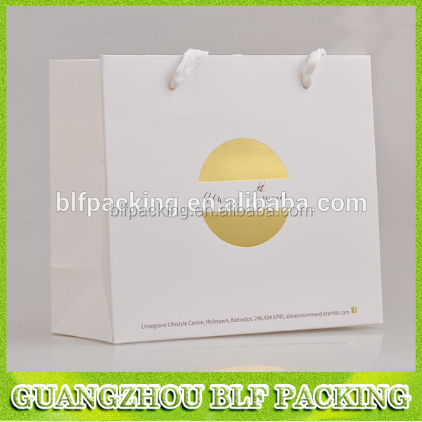 (BLF-PB010)recycle custom printed paper bag specification
