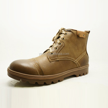 high cut handmade sewing outsole durable and thick leather and fashionable european men leather safety shoes