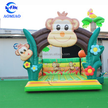 Monkey inflatable bouncer indoor outdoor inflatable bouncers castle for kids