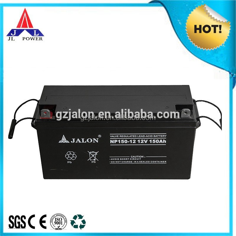 Practical manufacturer high quality energy vrla agm gel 12V150AH solar battery for ups