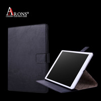 Electronics accessroies Flip opening design top grain leather table case for ipad air