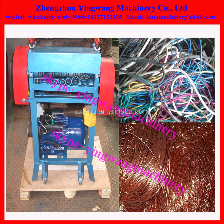 Recycling scrap copper wire cable peeling machine