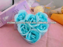 natural handmade rose flower paper gift soap paper thin soap